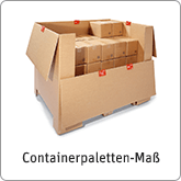 Containerpaletten-Maß