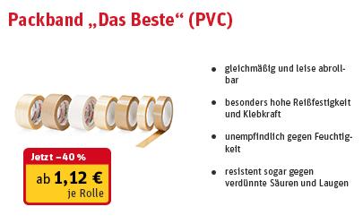 """Produkt Packband """"Das Beste"""""""