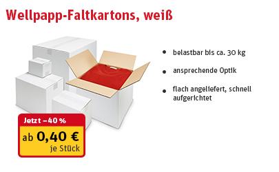 Wellpapp-Faltkartons, weiß