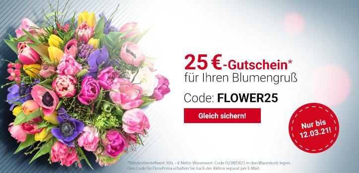 25 Euro Gutschein für Ihren Blumengruß